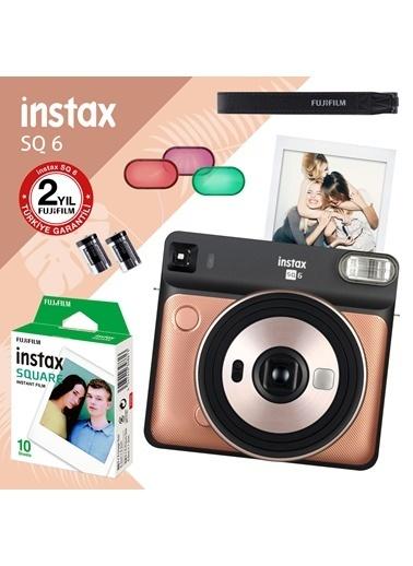 Fujifilm instax SQ 6 Altin-Siyah Fotograf Makinesi ve 10'lu Kare Film Renkli